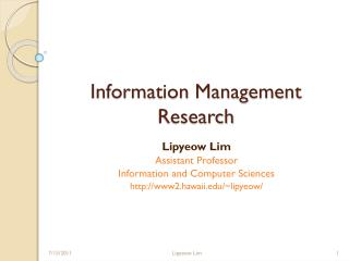 Information Management Research