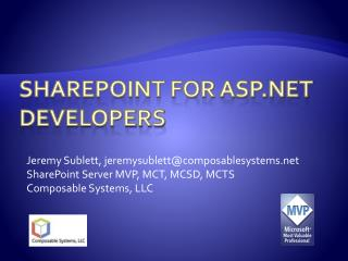 SharePoint for ASP.NET Developers