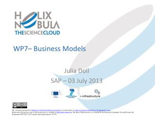 WP7–  Business  Models