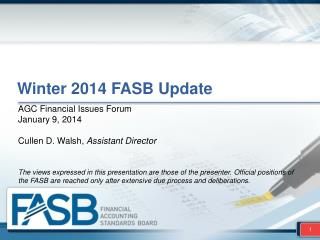 Winter 2014  FASB Update