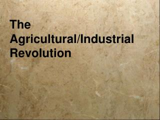The  Agricultural/Industrial Revolution