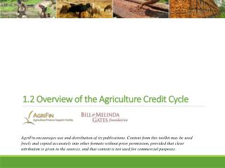 1.2 Overview of the Agriculture Credit Cycle