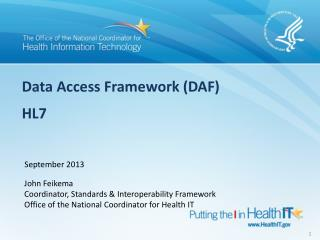 Data Access Framework (DAF) HL7
