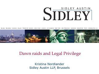 dawn raids and legal privilege