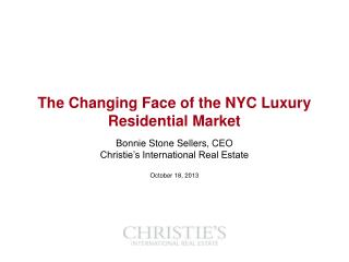 The Changing Face of the NYC Luxury Residential Market