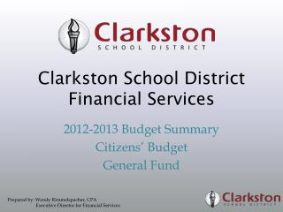 Clarkston School District  Financial Services