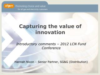 Capturing the value of innovation