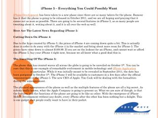 iphone 5 � everything you could possibly want