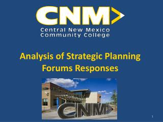 Analysis of Strategic Planning Forums Responses
