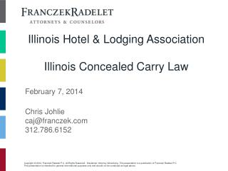 Illinois Hotel & Lodging Association Illinois Concealed Carry Law