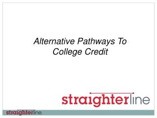 Alternative Pathways To College Credit
