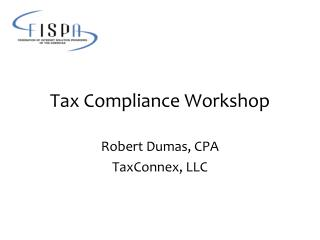 Tax Compliance Workshop