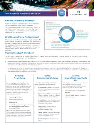 FleishmanHillard Authenticity Workshops