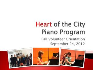 Heart  of the City  Piano Program