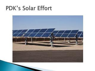 PDK's Solar Effort