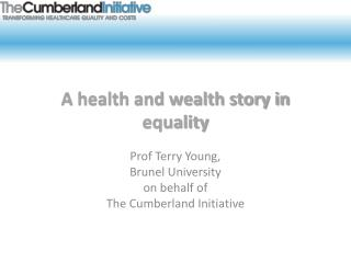 A health and wealth story in equality