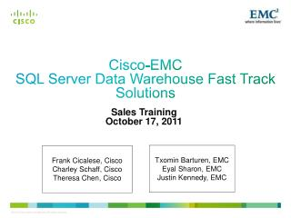 Cisco-EMC SQL Server Data Warehouse Fast Track Solutions