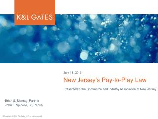 New  Jersey's  Pay-to-Play Law