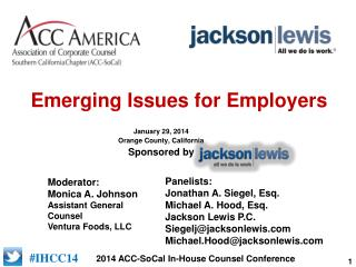 Emerging Issues for  Employers