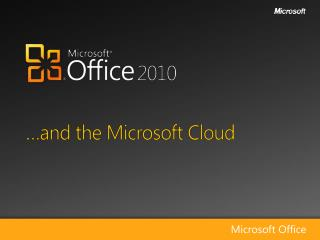 �and the Microsoft Cloud