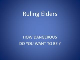 Ruling Elders