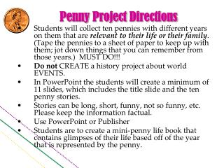 Penny  Project  Directions