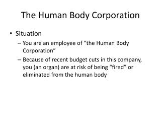 The Human Body Corporation