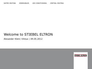 Welcome to STIEBEL ELTRON