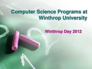 Computer Science Programs at Winthrop University