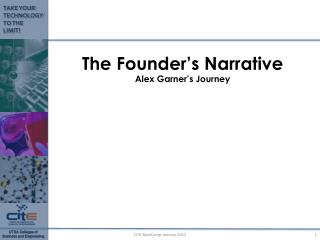 The  Founder's Narrative Alex Garner's Journey
