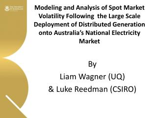 Modeling and Analysis of Spot Market Volatility Following  the Large Scale Deployment of Distributed Generation onto Au