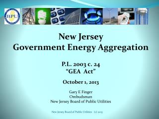 New Jersey  Government Energy Aggregation