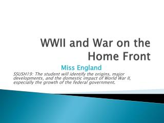 WWII and War on the Home Front