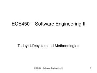 ece450   software engineering ii