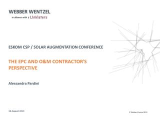 eskom csp  / solar augmentation conference