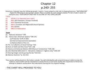 Chapter 12 p.240- 255