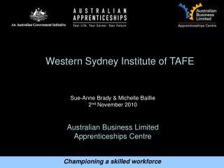Australian Business Limited  Apprenticeships Centre