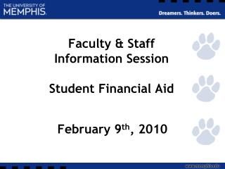 faculty  staff  information session  student financial aid