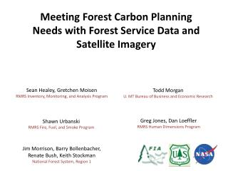 Meeting Forest Carbon Planning Needs with Forest Service Data and Satellite Imagery