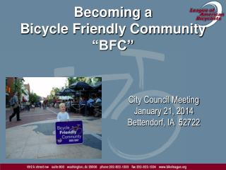 "Becoming a  Bicycle Friendly Community ""BFC"""