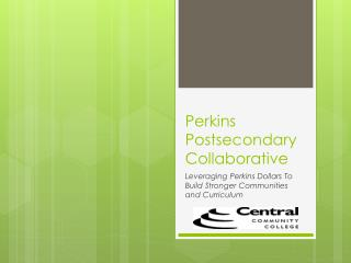 Perkins Postsecondary Collaborative