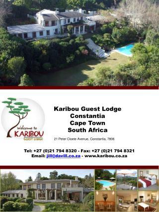 Karibou  Guest Lodge  Constantia  Cape Town  South Africa