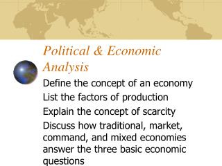 Political & Economic Analysis