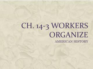 CH. 14-3 WORKERS ORGANIZE
