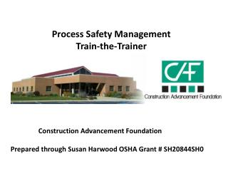 Process Safety Management Train-the-Trainer