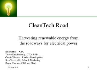 CleanTech Road