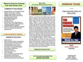 SEMINAR TOURS