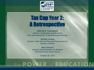 Tax Cap  Year 2: A Retrospective