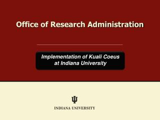 Office of Research Administration