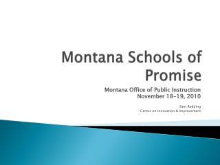 Montana Schools of Promise